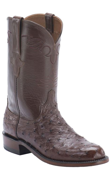 lucchese roper boots lucchese 1883 s brown quill ostrich