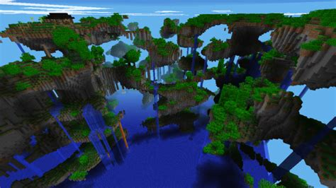 best seed floating islands shattered survival island minecraft pe maps