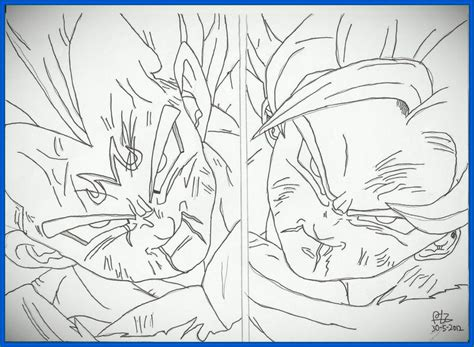 imagenes goku y vegeta imagenes para dibujar de goku faciles archivos dibujos