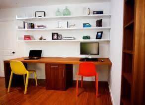 teak waterfall desk floating shelves suite