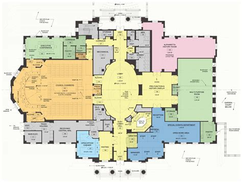 municipal hall floor plan alpharetta city hall opens as centerpiece of new