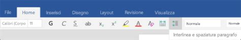 interlinea mobili modificare la spaziatura in un documento word in un