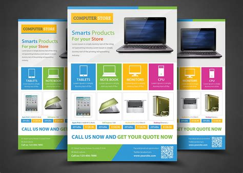 Technical Brochure Template by Product Promotion Flyer Templates Flyer Templates Creative