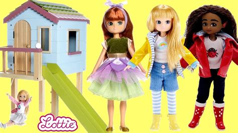 lottie doll dollhouse treehouse dollhouse unboxing assembly play lottie