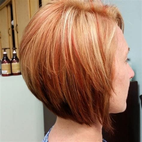 sexy bob haircut with chunky red highlites the full stack 30 hottest stacked haircuts