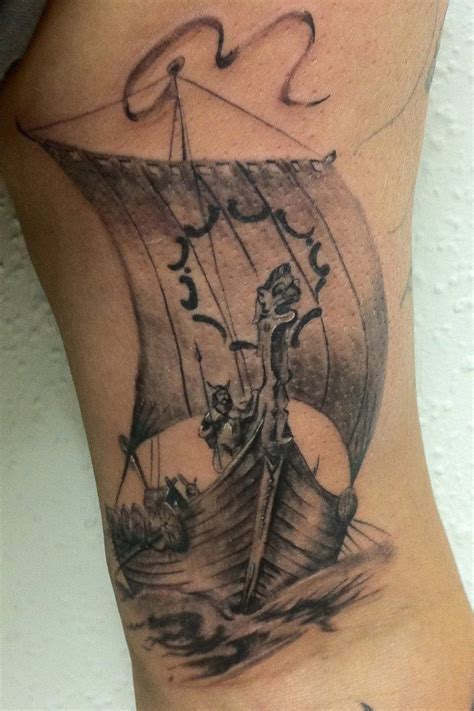 traditional viking tattoos traditional viking ship tattoos viking ship by radutattoo