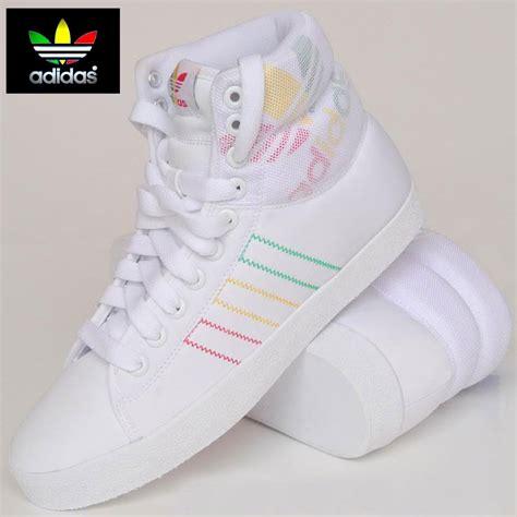 adidas originals indoor tennis mid hi top white trainers