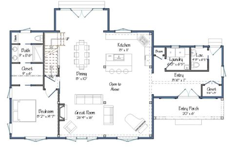 barn style home floor plans new small barn house plans the downing