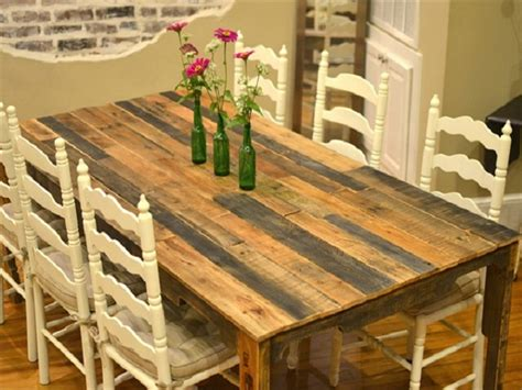 Refurbished Dining Table Recycled Pallet Dining Table 15 Ideas Refurbished Ideas