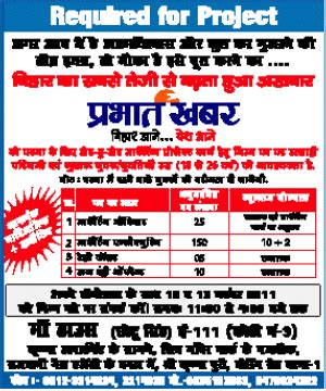 Government For Mba Marketing In Bihar by Prabhat Khabar Require Marketing Officer Marketing