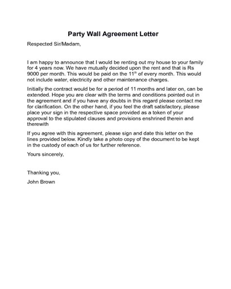 2018 Agreement Letter Templates Fillable Printable Pdf Forms Handypdf Wall Agreement Template Free