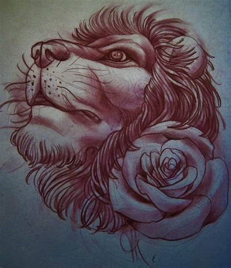 lion rose tattoo 51 best images about tattoos on