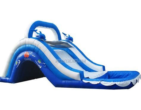 water slide bounce house bouncerland commercial inflatable water slide 2006