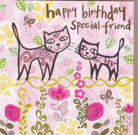 Special Birthday Cards Uk Cats Special Friend Birthday Card Karenza Paperie