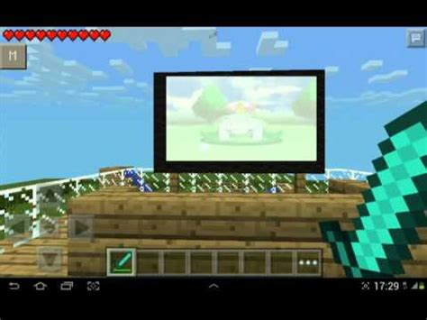 how to make a tv in minecraft. Minecraft Pe How To Make Tv No Mod A In