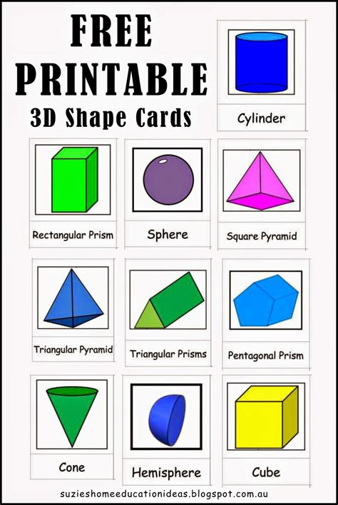 printable 2d shapes and names exploring 3d shapes 3d shapes free printable and 3d