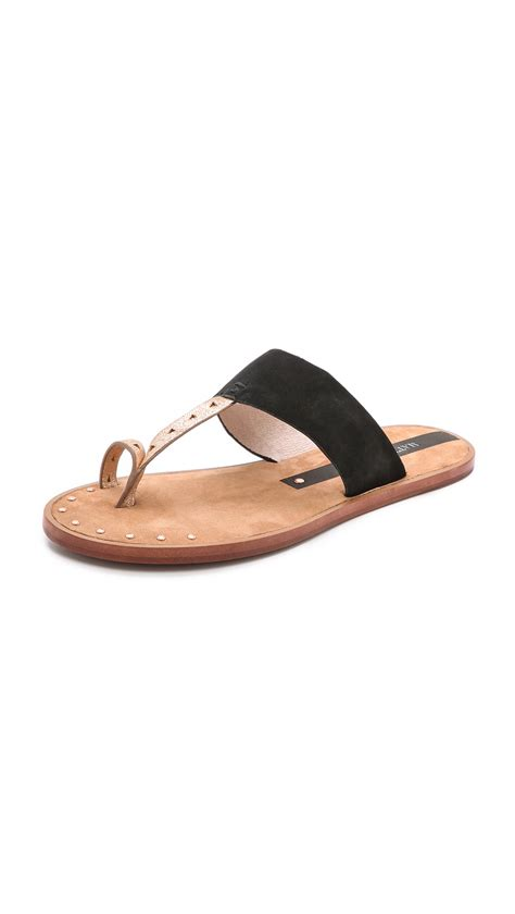 sandals with toe ring matt bernson scout toe ring sandals in black black