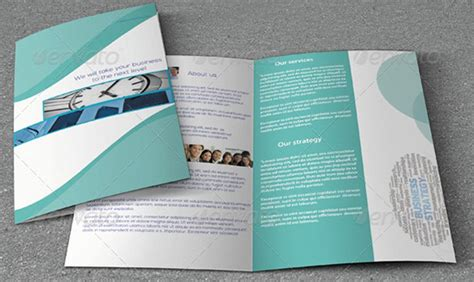 5 best images of simple brochure design tri fold