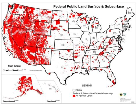 map of federally owned land in usa propertyprof