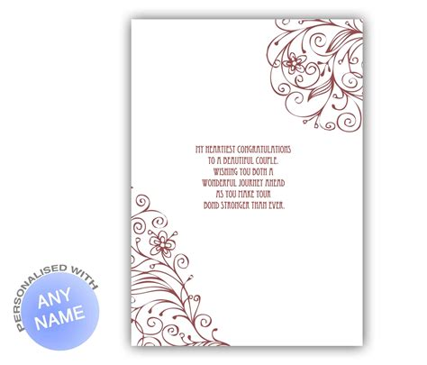 congratulations on your wedding card template wonderful married wedding greeting card giftsmate