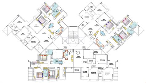 floor plans nancy group thane mumbai residential