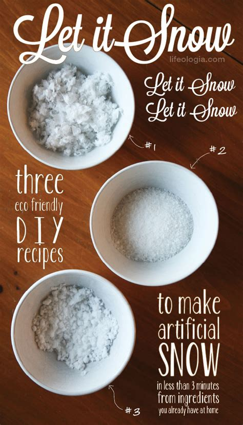 lifeologia artificial snow tutorial diy pure ella