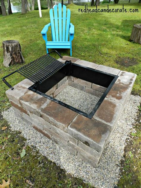 diy backyard grill easy diy fire pit kit with grill redhead can decorate