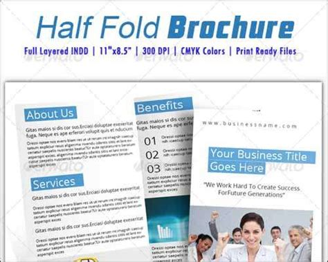 half fold brochure template free 25 best premium and free psd brochure templates 2014