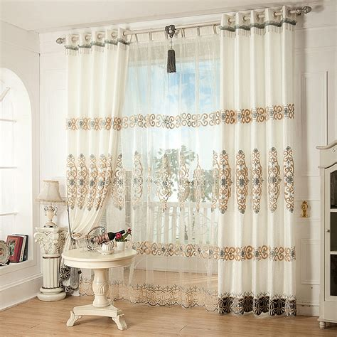 contemporary living room curtains