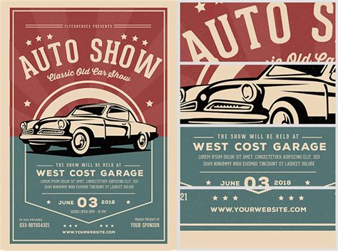 car show flyer template classic car show flyer template flyerheroes