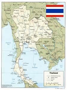Thailand Map World by Thailand