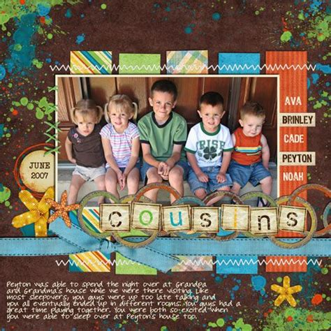 scrapbook layout cousins cousins scrapbook page scrapbooking layouts ideas