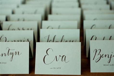 dinner name cards 10 handgeschriebene kalligraphie hochzeit tischkarten