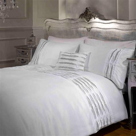 New Luxury Diamante Bedding Duvet Cover Bed Sets Luxury Diamante Duvet Cover Pintuck Contemporary