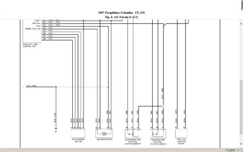 freightliner hvac blower motor wiring wiring diagram manual