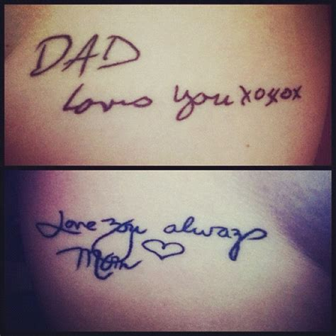 in handwriting for a tattoo next tattoo iwant is my parents handwriting this is no