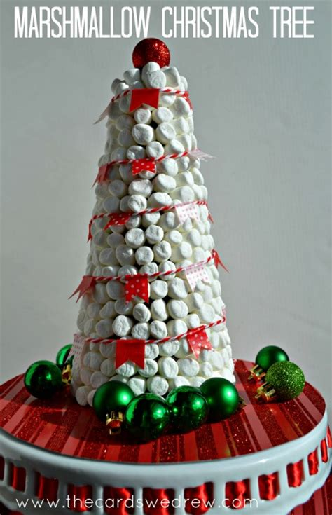 hot cocoa bar marshmallow christmas tree decor the cards