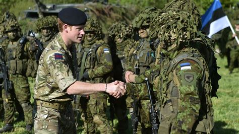 for soldiers harry thanks estonia troops for afghanistan service itv news