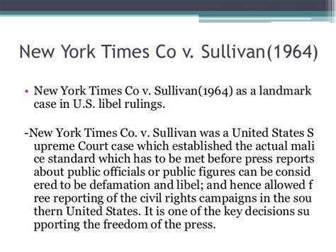 new york times v sullivan 1960 records of rights