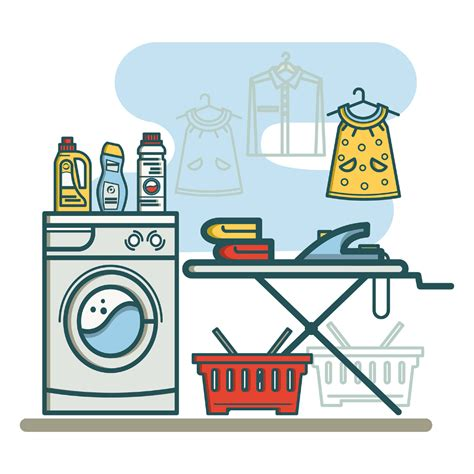 Laundry Clip free laundry room linear icons free design resources