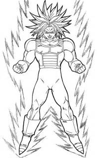 Dragon Ball Z Coloring Pages Trunks sketch template