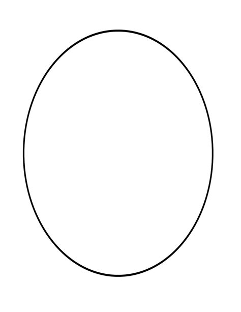 oval shape template printable free coloring pages of shape oval
