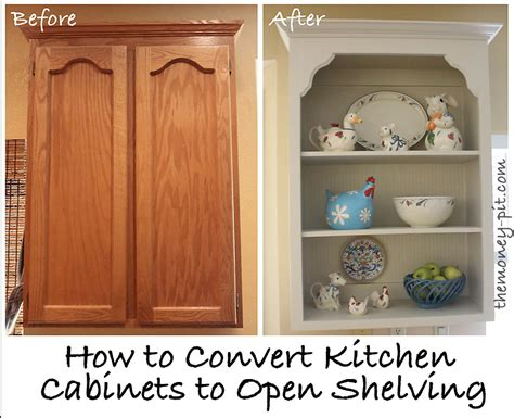 tutorial turning cabinets into custom shelves the