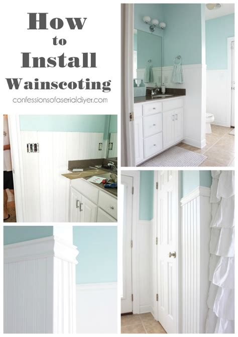 Adding Wainscoting by How To Install Wainscoting Confessions Of A Serial Do It