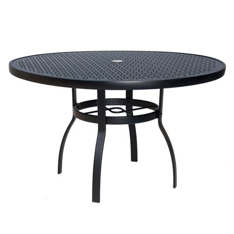 woodard deluxe 48 inch lattice top dining table