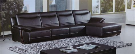 leather sofa with wood trim opus black leather wood trim modern sectional set