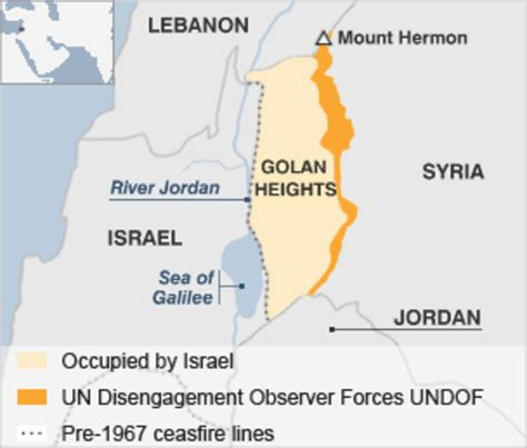 middle east map golan heights golan heights profile news