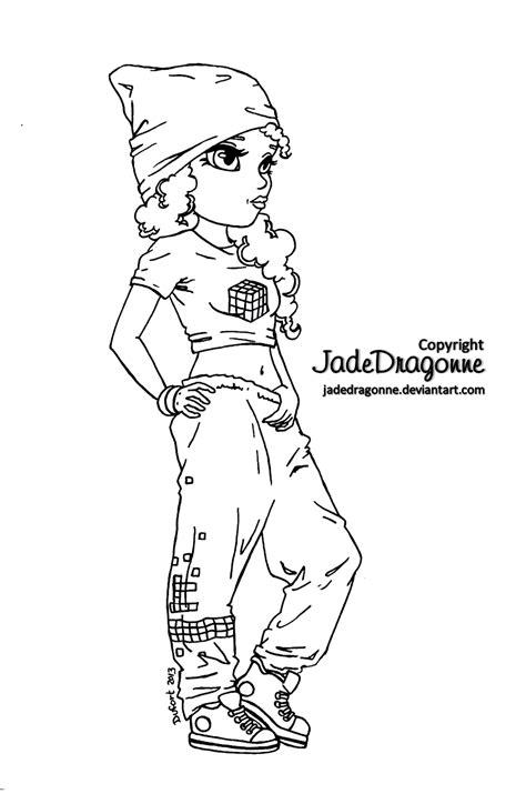 coloring book hiphopengine hip hop dancer lineart by jadedragonne on deviantart