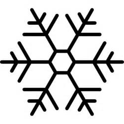 snowflake outline template snowflake with hexagon shape outline icons free