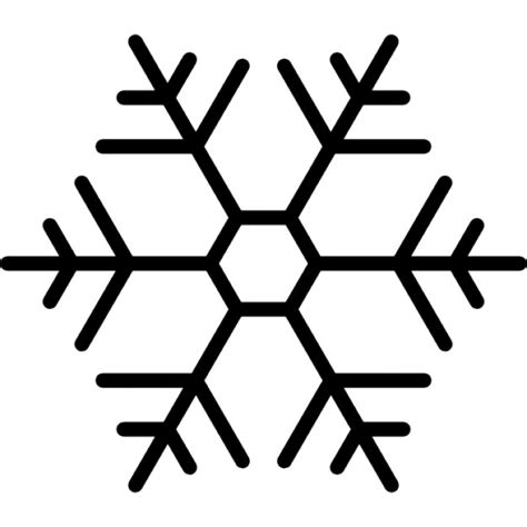 snowflake with hexagon shape outline icons free download